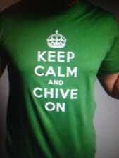 "the Chive *Authentic* ""Keep Calm and Chive On"" Men Green t-shirt KCCO M L XL XXL"