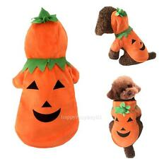 Pumpkin Dog Pooch Halloween Costume Clothes Pet Suit For fall Winter Yellow