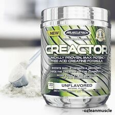 MUSCLETECH CREACTOR|235 GRAMS|120 SERVINGS|UNFLAVORED|FREE-ACID CREATINE HCI|ON|