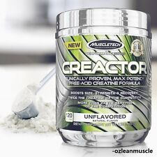 MUSCLETECH CREACTOR 60 DAYS 120 SERVES UNFLAVORED FREE-ACID BEST CREATINE HCI ON