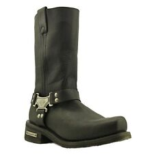 Milwaukee Men's Classic Harness Black Leather Motorcycle Boot MB410