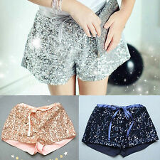 Luxuary Girls Baby Toddler Sequin Shorts Sparkle Kids Party Clothes Pink 2-8T