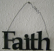 """FAITH """"Words to Live By"""" Wall Art Hanging Metal Sign"""