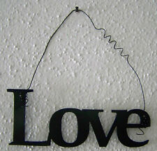 """LOVE """"Words to Live By"""" Wall Art Hanging Metal Sign"""