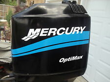 """MERCURY BOAT MOTOR COWL DECAL SET """"Your Choice of HP Rating"""" Saltwater Edition"""