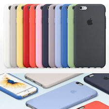 Ultra-Thin Genuine Silicone Leather Soft Case Cover For Apple iPhone 6 / 6s Plus