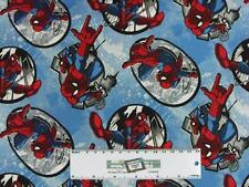 Patchwork Quilting Fabric MARVEL SPIDER MAN Material Cotton FQ 50X55cm NEW