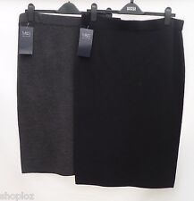 M&S Collection Sizes Med Large Knitted Pull On Pencil Stretch Tube Skirt 27L