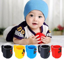 2in1 Kids Children Toys Cup DIY Puzzle Cup Building Blocks Water Drinking Mugs