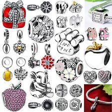 925 Sterling Silver Charms Bead Fashion Jewelry Fit Brand New 3mm Bracelet Chain