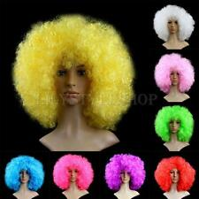 Women Men Unisex Halloween Fancy Party Cosplay Disco Afro Circus Clown Curly Wig