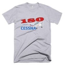 Cessna 180 (Red/Blue) Custom Airplane T-shirt- Personalized with N#