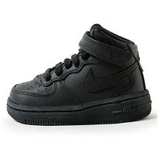Nike Air Force 1 Mid TD Infants 314197 001 New Toddlers Baby Black Shoes Size 5