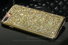 For iPhone 7/7 Plus Black Bling Case Real Diamond Crystal Rhinestone Cover Skin