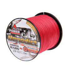Pe Strong 4strand Braided line 300M Super Spectra Fishing Line 6LB-100LB Red