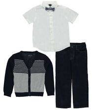 "Nautica Little Boys' Toddler ""High Marks"" 3-Piece Outfit with Bowtie"