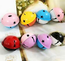 10x Multicolor Jingle Bells Christmas decorations scattered beads Charm Pendant