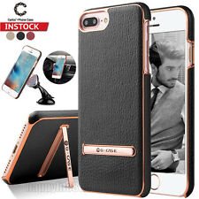 For iPhone 7/7 Plus Luxury Leather Shockproof Slim Car Stand Back Case Cover New