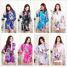Hot Fashion Sexy Bridal Bridesmaid Kimono Sleepwear Lounge wear Satin Dress Robe