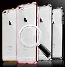 Pink Gold Clear Slim Ultra-thin Soft Cover Case Apple iPhone 7 7Plus + Protect