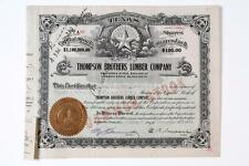 Texas ~ THOMPSON BROTHERS LUMBER CO. ~ stock certificate (1911)