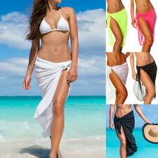 COQUETA BEACH COVER UP SARONG LONG SHEER CANGA WRAP PAREO BIKINI SKIRT SWIMWEAR