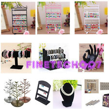 Jewelry Earrings Ring Necklace Watch Display Boxes Stand Holder Show Rack HOT DE