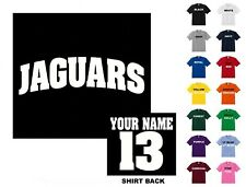 Jaguars College Letters Football Custom T-shirt #254 - Free Shipping