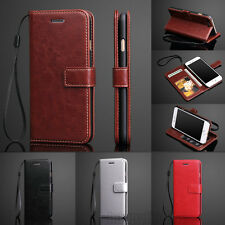 Luxury Leather Wallet Magnetic Flip Cover Hand Strap For iPhone 7 / 7 Plus Case