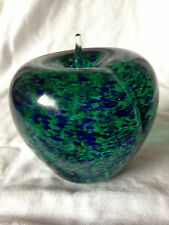 WEDGWOOD GLASS LARGE APPLE  PAPERWEIGHT SIGNED ON BASE  EXCELLENT CONDITION