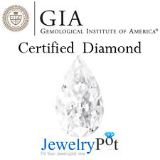 1CT D SI1 Pear GIA Certified & Natural Brilliant Diamond Stone (2155527978)