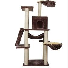 "Deluxe Condo 60"" Cat Tree  Furniture Play Toy Scratch Post Kitten Pet House  #@"