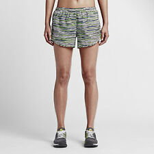 NIKE DRI FIT EQUILIBRIUM TEMPO WOMEN'S RUNNING SHORTS WHITE/GREEN # 723944-NWT