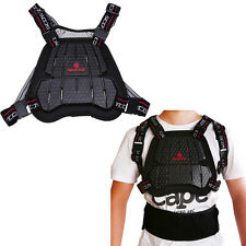 Black Motorcycle Cycling Dirt Bike Chest Protector Body Spine Armor Gear M-L