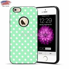 TPU Soft Rubber Polka-dot Case Shockproof Cover for iPhone 6 6S 4.7'' Mint Green