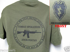 25th ID T-SHIRT/ AFGHANISTAN COMBAT OPS T-SHIRT/ MILITARY/   NEW