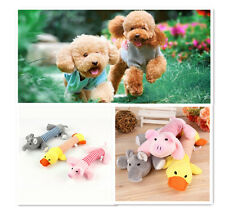 Cute Pet Puppy Chew Squeaker Squeaky Plush Sound Pig Elephant Duck Ball For Dog#