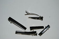 50 x Prong Barrettes hair clip accessory - Silver tone - LOCATION: Sydney NSW
