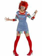 Womens Chucky Costume Childs Play 2 Killer Doll Outfit Halloween Fancy Dress