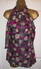 NEW LADIES MONSOON TOP SIZE 12,Silk spot Cocktail Hour evening party wear tunic
