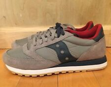 SAUCONY JAZZ ORIGINAL GREY BLUE RED WHITE GUM RUNNING SZ 8-13  S2044-320