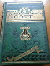 Antique Book Sir Walter Scott Late 1800s Poetical Works Hardback