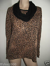 NEXT BROWN LEOPARD PRINT LONG SLEEVE TOP/SCARF  NWT