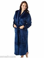 Ladies Soft Touch Flannel Fleece Robe with Satin Trim Size S-M-L