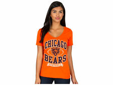 Chicago BEARS Women's V-Neck NFL Orange T-Shirt tee by Junk Food NWT 50% off!
