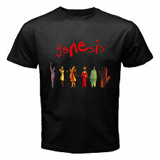 New GENESIS Seconds Out Rock Band Legend Men's Black T-Shirt Size S to 3XL