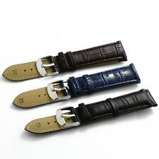 12mm 14mm 16mm 18mm 20mm 22mm 24mm Black Brown Blue Leather Watch Band Strap