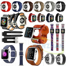 Leather/Silicone/Stainless Magnetic Loop Watch Band Strap Fr Apple Watch 2st 1st