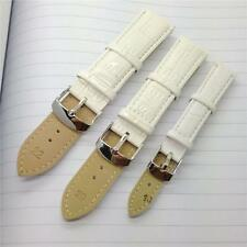 12mm 14mm 16mm 18mm 20mm 22mm 24mm White Genuine Leather Watch Band Strap