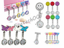 Cute Pendant Butterfly Nurse Clip-on Brooch Quartz Hanging Pocket Watch F7US DP